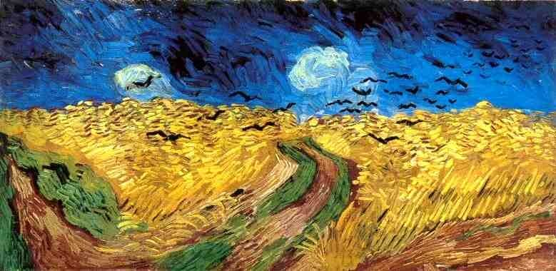 Van Gogh, Trigal com corvos