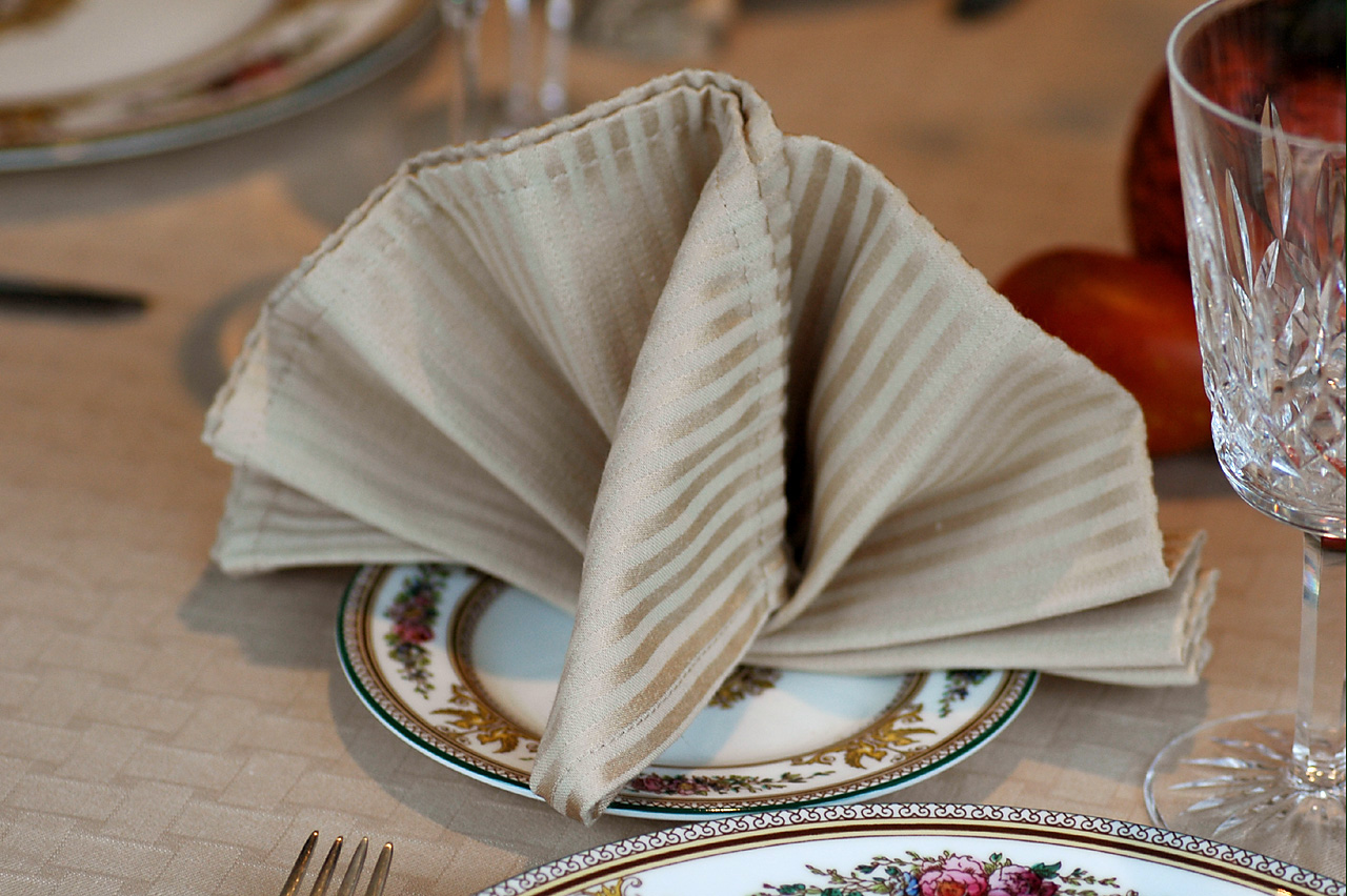 Savoring time in the kitchen mustard puffs and how to for How to fold napkins into turkeys