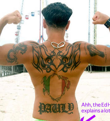 Jersey Shore, Pauly D, Tattoo
