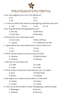 graphic regarding Printable Trivia Questions titled Thanksgiving printable trivia quiz Trials Eire