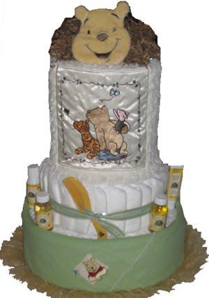 Burts Bees Diaper Cake. This custom diaper cake is 4