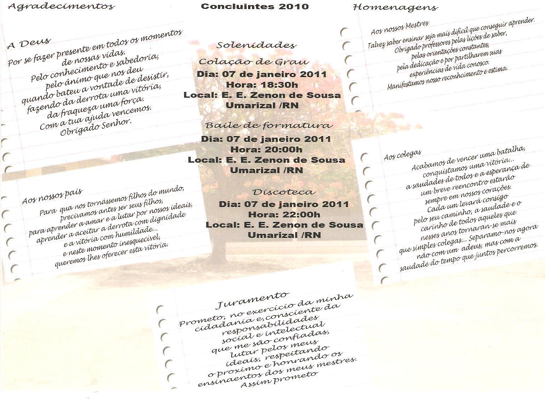 Concluintes Do Zenon De Sousa