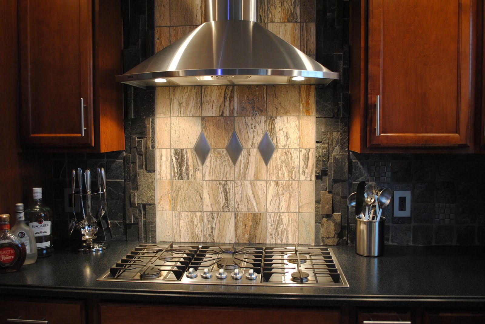 Stone Kitchen Backsplash Designs