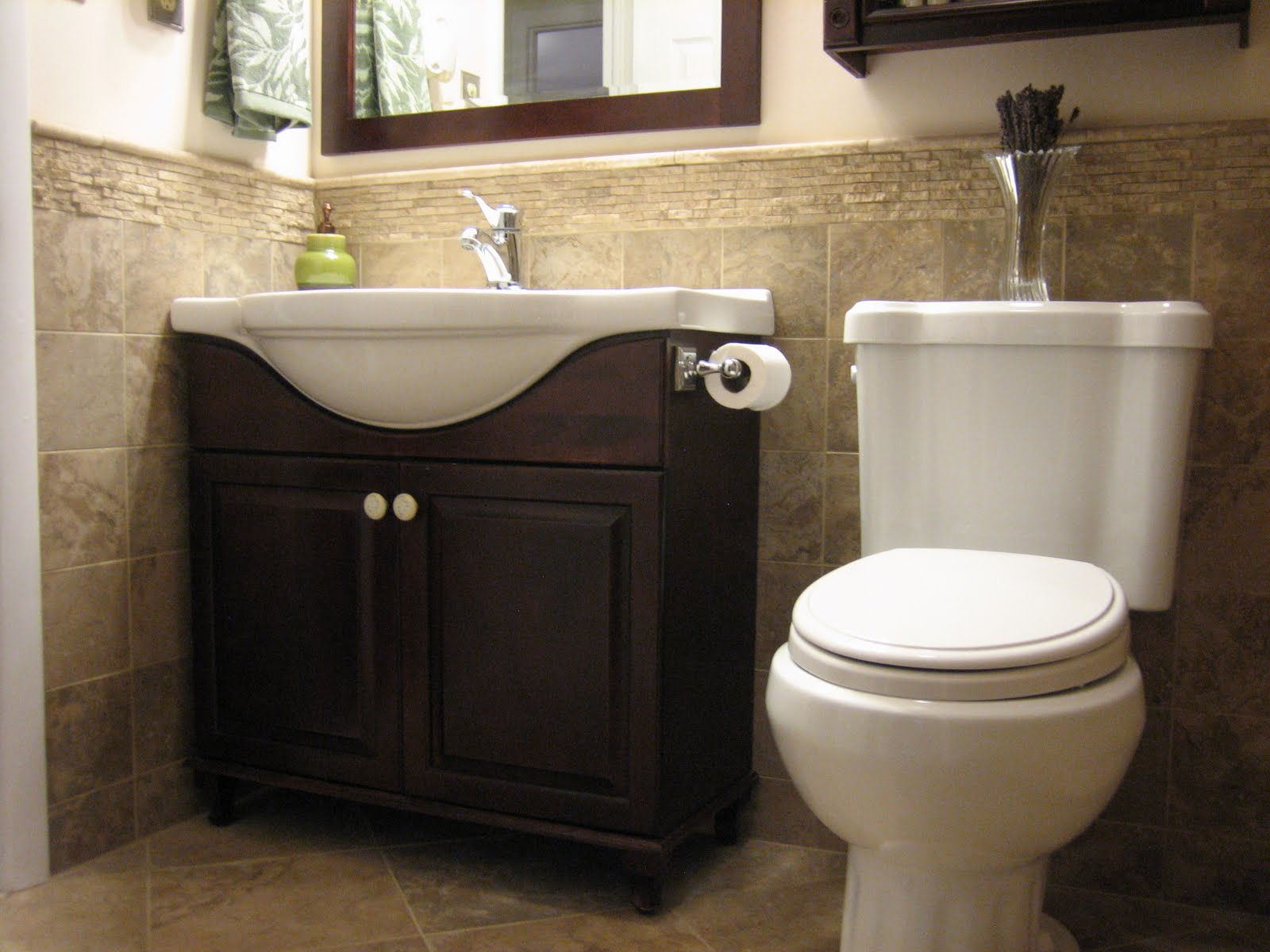 H winter showroom blog luxury master bath remodel athena for Small half bathroom designs
