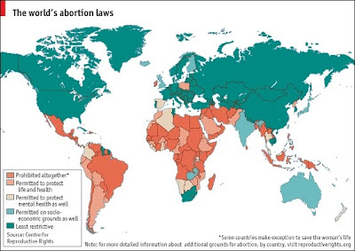Mission justice argentina battle of rights a world map showing the national abortion policies across the globe dark red shows countries that prohibit abortions altogether lighter red signifies gumiabroncs Choice Image