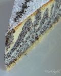Mákos zebratorta