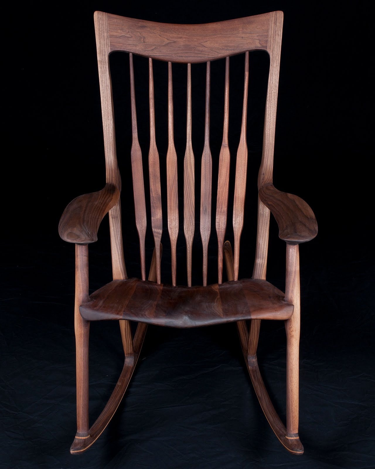 Wonderful image of  Woodworking Portfolio: Sam Maloof Style Rocking Chair Finished Piece with #935638 color and 1280x1600 pixels