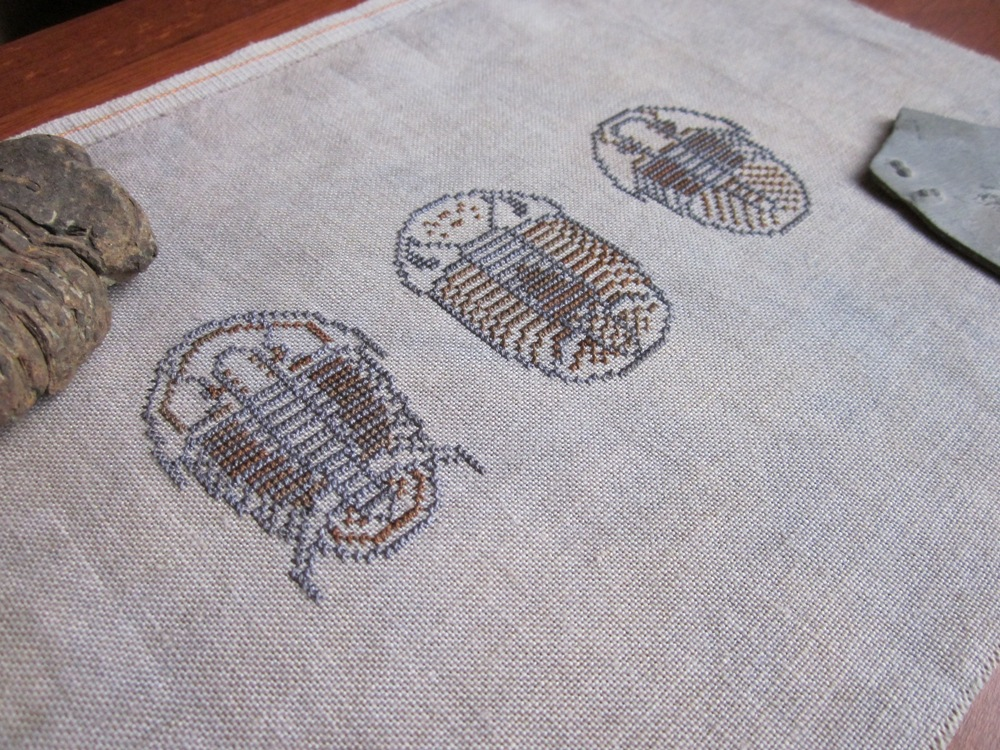 Adventures In Stitching Finished Trilobite Sampler And Free Pattern 3