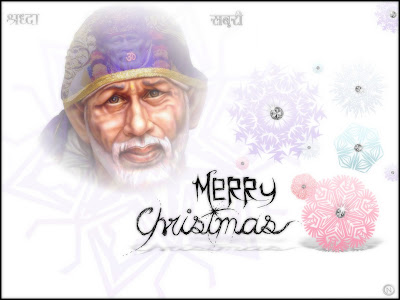 Shirdi Sai Christmas Wallpaper 2