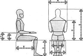 Muebles domoticos medidas para dise ar sillas o asientos for Medidas de una silla de comedor