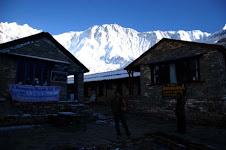 My picture in the Annapurna base camp early in the morning