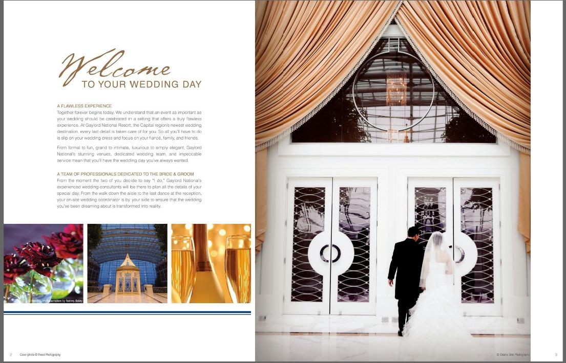 Charlie Shin Storyteller: Gaylord National Hotel Wedding Brochure