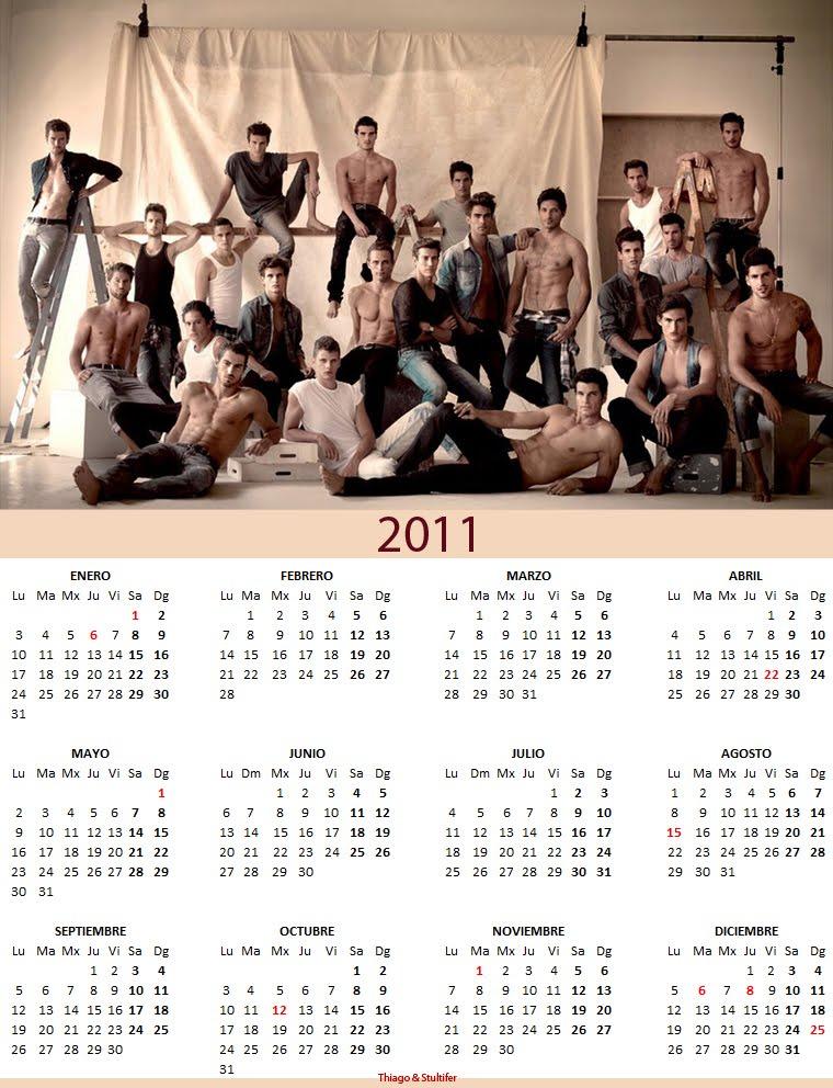 calendario 2011 para imprimir. Versión pared para imprimir y