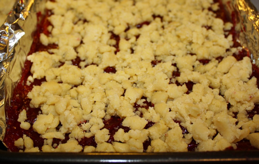 Cranberry Streusel Shortbread Bars