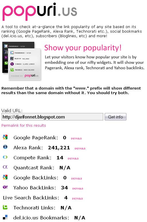 popuri.us+  +quickly+check+your+site%27s+Google+PageRank,+Alexa+Rank+and+more%21 1286264958959 ওয়েব সাইটের জনপ্রিয়তা মাপার কিছু প্রয়োজনীয় ওয়েব টুলস! | Techtunes