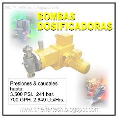Bombas dosificadoras.