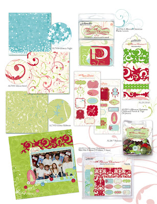 Rhonna Christmas Papers & Embellishments