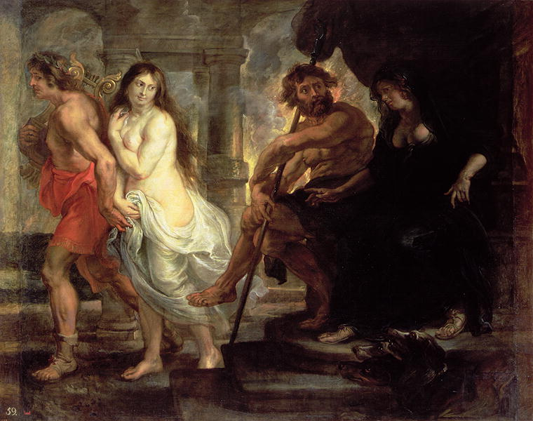 Orpheus Leads Eurydice Out of the Underworld. Peter Paul Rubens.