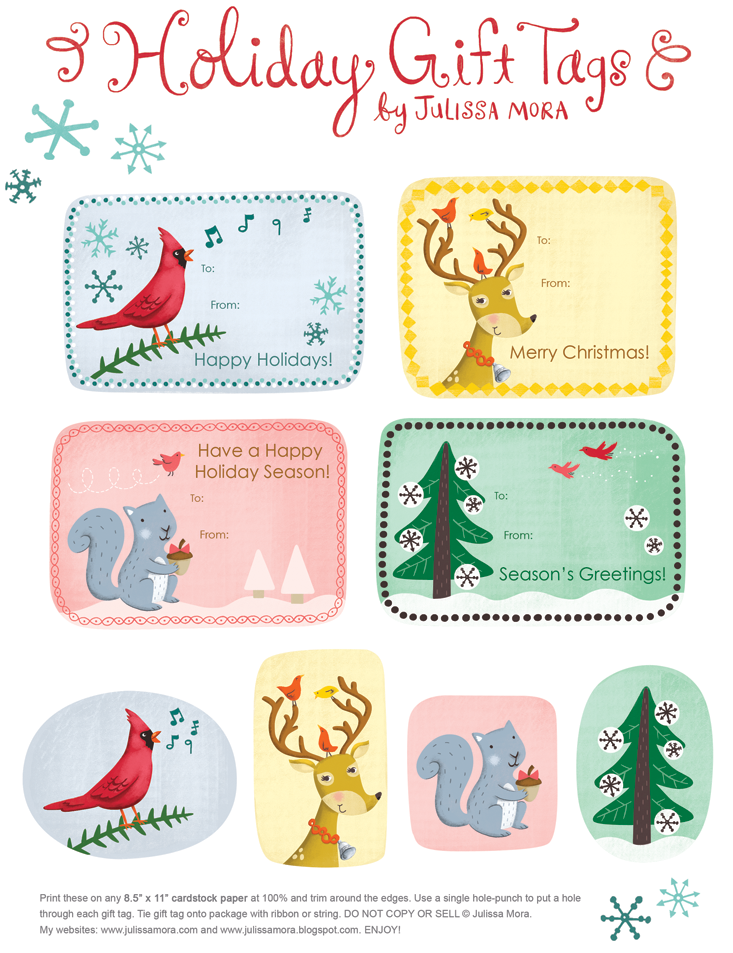 Jambo Chameleon!: ~ yay!...a Round Up of Free Christmas tags ~