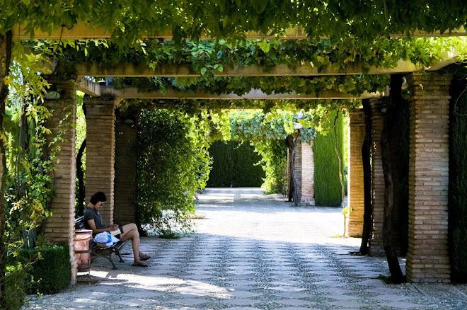 Serena pausa para palavras escritas - Alhambra, Granada