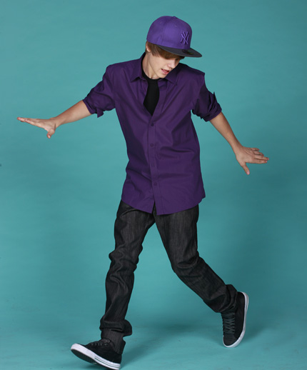 justin bieber purple cap. Justin Bieber with Color
