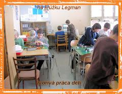 Aktívna práca detí na krúžku Legman