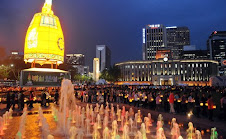 City Hall Plaza, Seoul - Buddha's parade