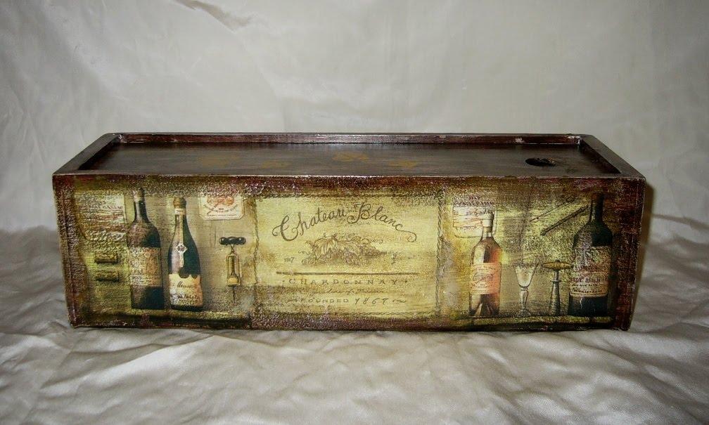 Ящик для бутылок декупаж