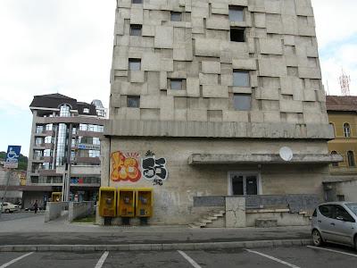 Erdély, Vasile Mitrea, Le Corbuisier, modernizmus, Ceausescu, brutalism, brutalista, béton brut, raw concrete, építészet, brutalizmus, architecture, Cluj, Telefonpalota