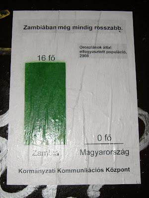Kormányzati Kommunikációs Központ, Wesselényi utca, VII. kerület, plakát, Zambia, Magyarország, Gyurcsány