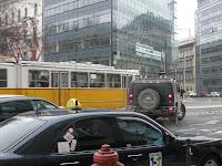 Hummer, Budapest, agresszió, közlekedés, Múzeum körút, Kálvin tér