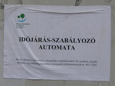 Környezetvédelmi és Vízügyi Minisztérium, időjárás-szabályozó automata, Budapest, IX. kerület, Ferencváros, Haller utca, Mester utca