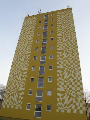 panel, Budapest, külváros, lakótelep, lakótelepek, op-art, panel, Pestszentlőrinc, Szent Lőrinc telep, Vasarely, XVIII. kerület