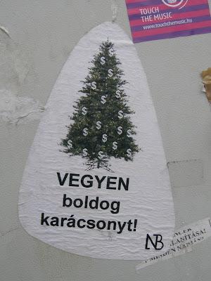karácsony,  vásárlás, fogyasztás, matrica,  Budapest, Magyarország