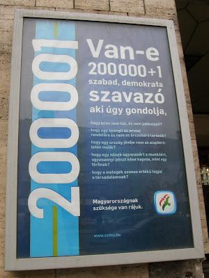 SZDSZ, Budapest, Multireklám, plakát, 2000001 szavazó