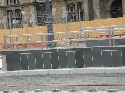 Budapest, burkolás, 4 metró, négyes metró, subway, Budapest, belváros, Vásárcsarnok, aluljáró, elkúrás, igénytelenség, burkolat