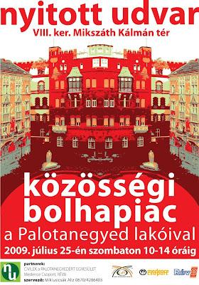 Civilek a Palotanegyedért Egyesület, bolhapiac, VIII. kerület,  Budapest,  Magyarország