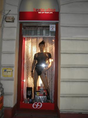 Beate Uhse AG, sexshop, Budapest, erotika, Terézváros, VI. kerület,  Teréz körút, Ungarn, Magyarország