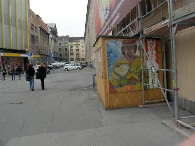 Budapest, Blaha Lujza tér, zöldséges, VIII. kerület, Józsefváros, világvárost építünk, bódé, vicces, obst, gemüse / zöldség, gyümölcs