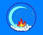 Imagen de una bola de cristal de nieve en cuyo interior arde una llamita.