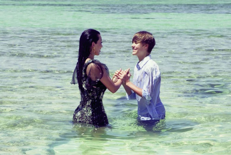 Justin Bieber and Kim Kardashian Photo Shoot for Elle