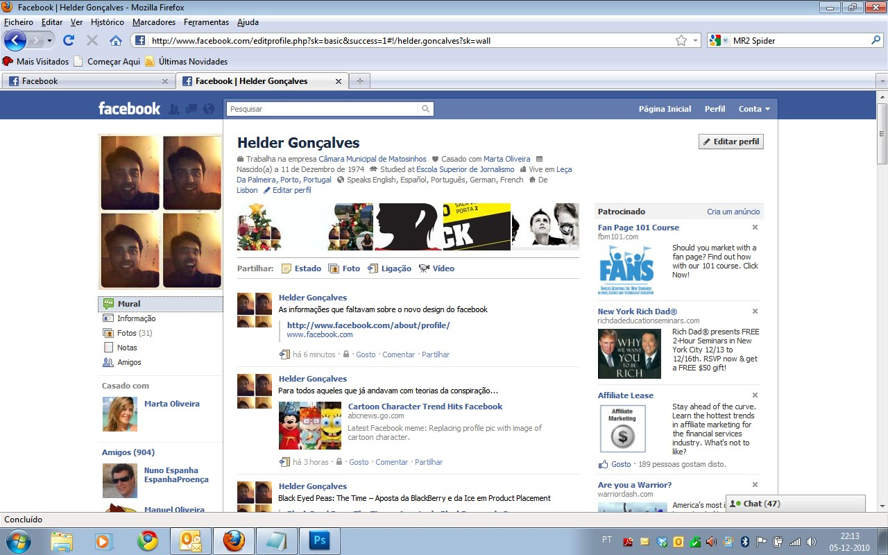 Designforu novo layout do perfil no facebook for O architecture facebook