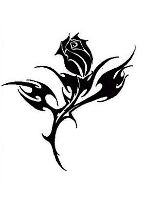 tribal rose tattoo design 2