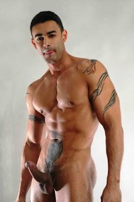 gaydreamblog gay guy hard on, hunk, sexy, tattoo