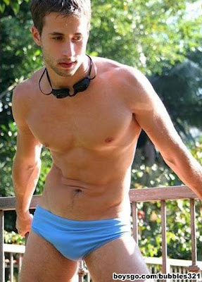 gaydreamblog gay guy beach, bulge, shorts, swimwear
