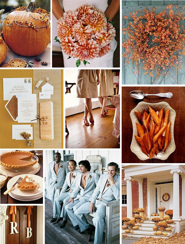 Fall wedding receptions are one of my favorites to plan or attend colors