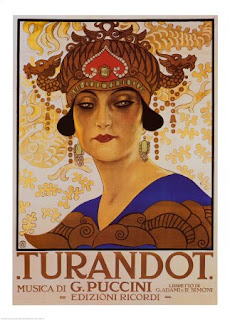Turandot,old playbill