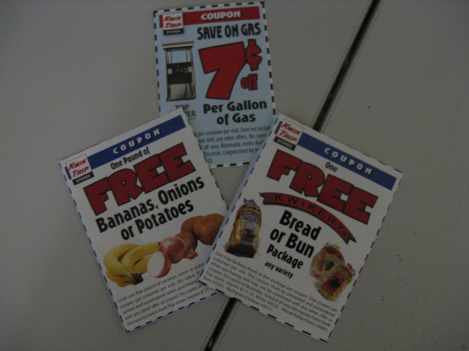 Kwik trip gas coupons