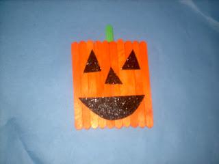 Pumpkin Popsicle Stick Craft Lesson Plans