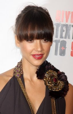 Jessica Alba Short Bangs Hairstyles